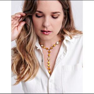 NWT Lucky Brand Set Stone Y Necklace